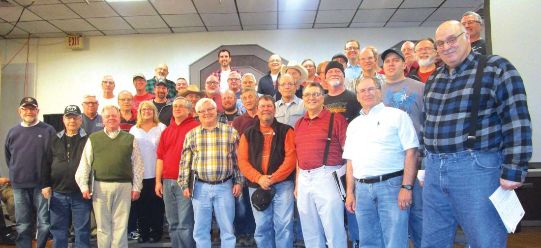 Allan Blanks/MDN  Minot's Heritage Singers prepare for tonight's Variety Show, from 5-7 p.m. at The Vegas Motel.