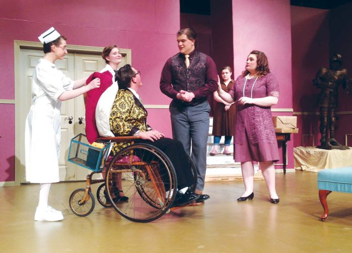 "Submitted Photo  The Magic City Playmakers and Thespian Troupe 791 presents ""The Man Who Came to Dinner,"" tonight-Saturday, Feb. 18. Slapstick comedy paired with humorous romance will grace the stage of Arvel Graving Theater as the cast dedicates their performance to Alphonse Koenigsman."