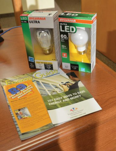 Eloise Ogden/MDN The switch from compact fluorescent lighting (CFLs) to LEDs has happened rather quickly, said Tom Rafferty, member services and communication manager for Verendrye Electric Cooperative.