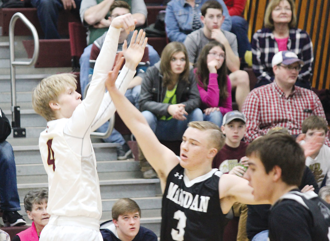no magi celebrate senior day win over mandan news alex eisen mdn minot high junior chandler albertson 4 buries a 3