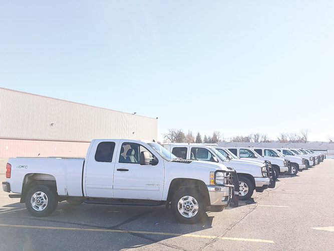 Submitted Photo Enbridge Pipelines donated retired fleet vehicles to 20 emergency response organizations in North Dakota and Minnesota. The presentation was made during the 63rd annual State Fire School held in Minot.