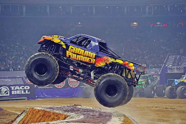 """Submitted Photo     Mind-blowing power matched with bodacious stunts will be featured at All Seasons Arena, as """"Monster Truck Thunder"""" comes to the Magic City Saturday, March 4, at 2 p.m. and 7:30 p.m.     Throughout this destructive celebration, monster truck enthusiasts can witness 5-ton machines ascend 30 feet into the air before crushing cars with their colossal tires.    In addition to witnessing the steady splatter of dirt and mud, tuff trucks and quad racers will be available for locals.    To learn more about """"Monster Truck Thunder"""" or purchase tickets, visit www.monstertruckthunder.com."""