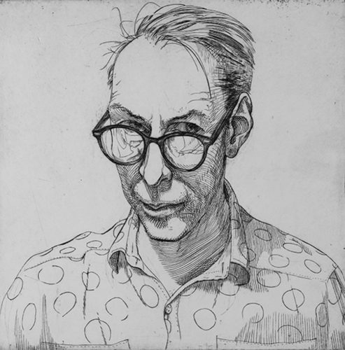 Tonight, inside the Aleshire Theater at Hartnet Hall on the campus of Minot State University, audiences can examine self-portraits by artists David Driesbach and John Kaericher that illustrate common influences in their early styles.  Submitted Photo