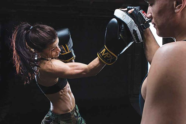 Submitted Photo   Fargo native Mariah Prussia looks to add another victory to her 5-2 record as she  battles Alexa Connors during Fight Night at  4 Bears Casino & Lodge, Saturday.