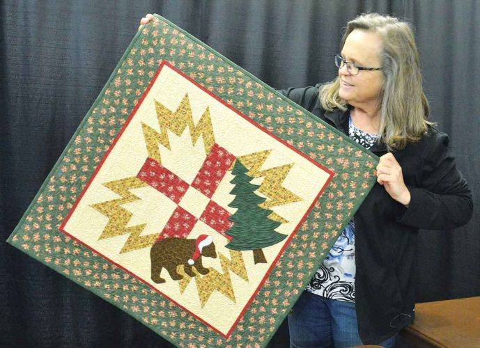 ELoise Ogden/MDN  Pamela Abrahamson of Minot has been quilting for many years. She is the featured quilter at this year's 24th Annual Minot Prairie Quilt Festival.