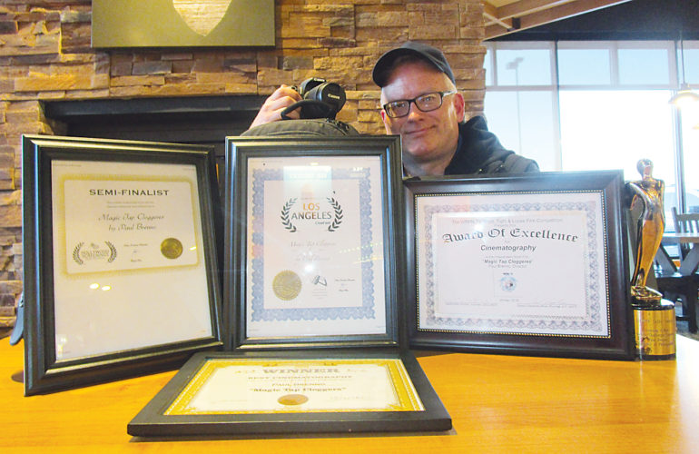 "Allan Blanks/MDN  Minot cinematographer Paul Brenno has worked beside Oscar-winning cinematographer Dean Semler along with Emmy-winning cinematographer Ken Lamkin. Currently, Brenno's Minot film titled ""Magic Tap Cloggers"" has won eight national awards."