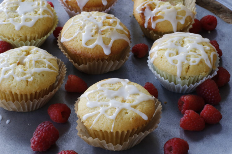 FILE - This March 2, 2016 photo shows lemon raspberry pound cake muffins in Concord, N.H. This dish is from a recipe by Sara Moulton. (AP Photo/J.M. Hirsch)