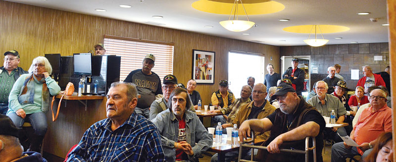 Eloise Ogden/MDN Many Vietnam veterans gathered at the annual Veterans Party held in the La Quinta Inn & Suites in Minot, Wednesday.