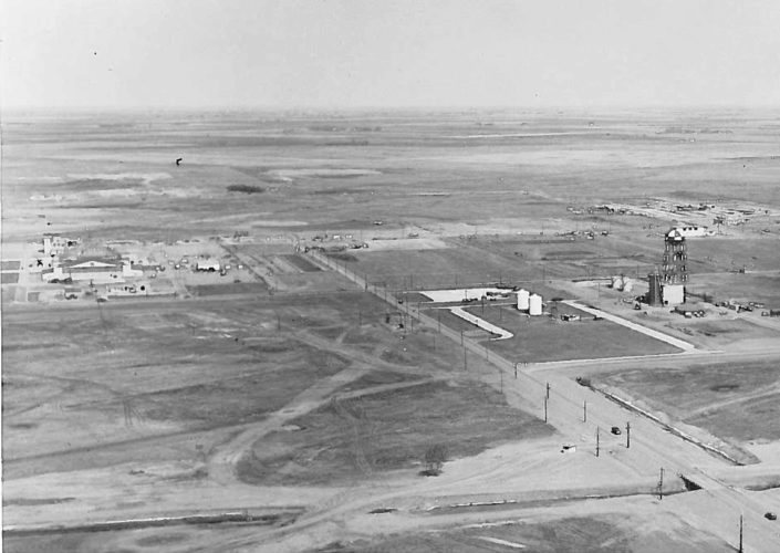 MDN File Photo ABOVE: Minot Air Force Base was only two years into construction when this photo was taken in May 1957. The official groundbreaking for the base was held two years earlier on  July 12, 1955.