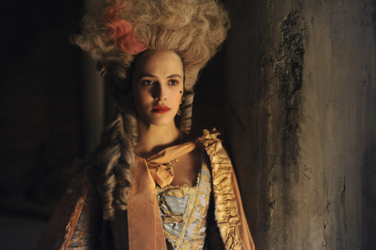 "In this image released by Hulu, Jessica Brown-Findlay portrays Charlotte Wells, an 18th-century prostitute in Hulu's drama series ""Harlots."" (Liam Daniel/Hulu via AP)"