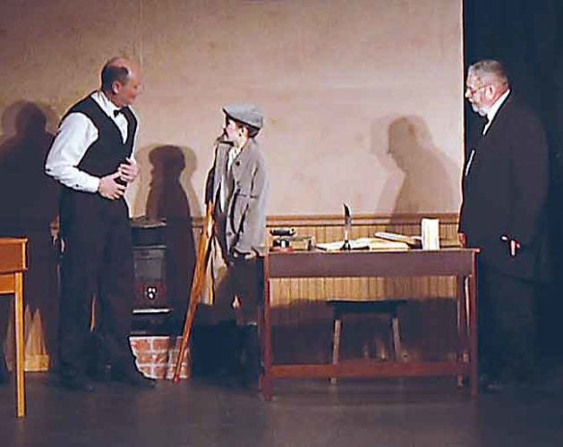 "Submitted Photo The 2015 performance of ""A Christmas Carol"" by actors in Garrison. The Sakakawea Area Council of the Arts puts on many events."