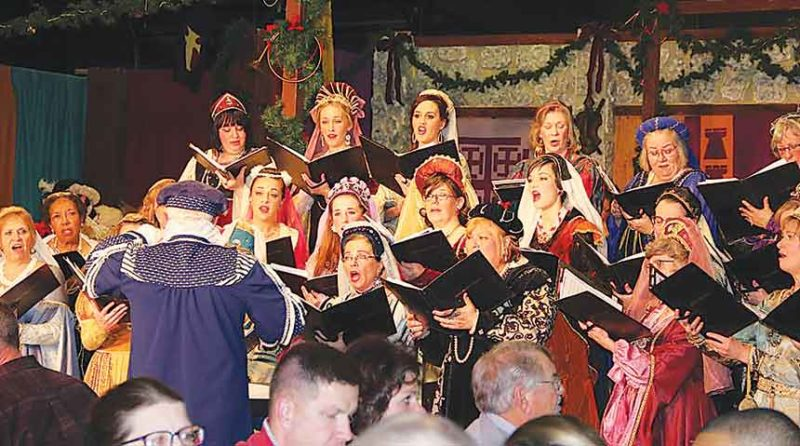 Submitted Photo The Renaissance Christmas Feast is one of the best known and most popular of events conducted by the Chamber Chorale of Minot.