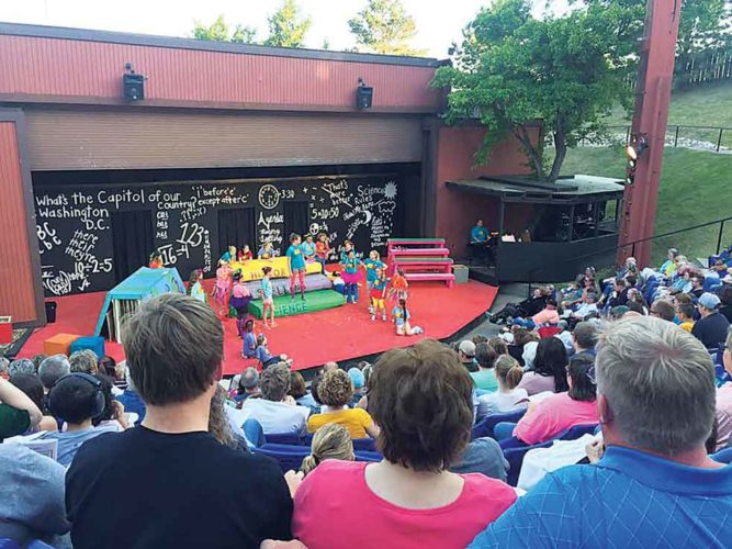 Submitted Photo  Founded on the principles of great seating and an intimate view of the performance, the summer amphitheater has featured live performances by the Minot Summer Theatre since 1970.