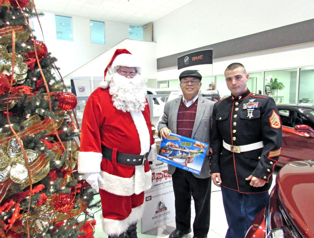 Toys for Tots collecting at Aqueduct Dec. 3-4