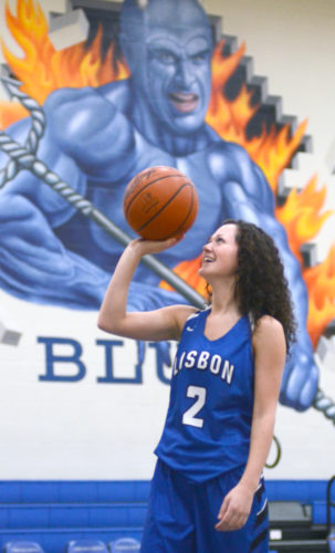 Lisbon senior Karlee Pezzano, the Blue Devils' all-time leading scoring, is the Morning Journal's All-Area girls basketball player of the year. (Morning Journal/Patti Schaeffer)