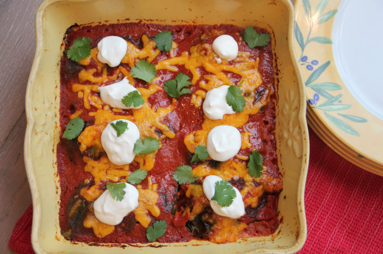 Photo by THE ASSOCIATED PRESS In this photo by chef Melissa d'Arabian, shown is her recipe for chard-wrapped enchiladas.