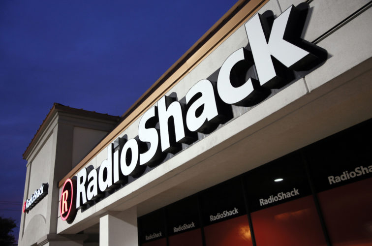 FILE - This Tuesday, Feb. 3, 2015 file photo shows a RadioShack store in Dallas. Troubled electronics retailer RadioShack has filed for bankruptcy for the second time in just over two years. The Fort Worth, Texas-based retailer filed its petition in bankruptcy court in Delaware on Wednesday, March 8, 2017. (AP Photo/Tony Gutierrez, File)