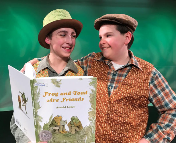 "Courtesy photo Thomas Belanger (Frog) and Matthew Gagnon (Toad) star in Peacock Players' production of ""A Year With Frog and Toad."""
