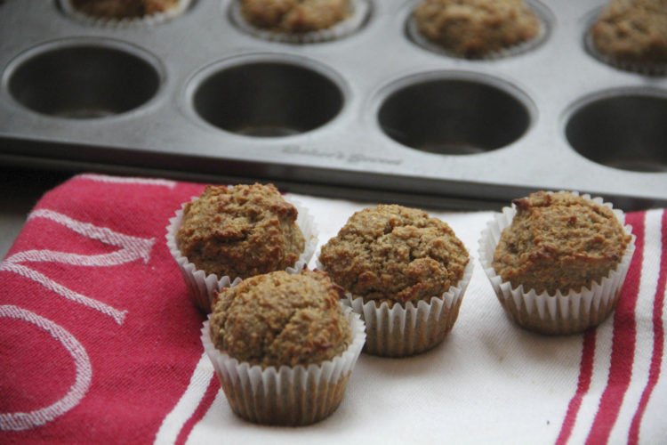 Photo by THE ASSOCIATED PRESS In this photo by chef Melissa d'Arabian, shown is her recipe for banana oat muffins.