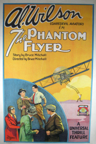 "Courtesy image An original poster for ""The Phantom Flyer"" (1928), part of a ""Dare-devil Aviation Double Feature"" to be shown with live music at 7 p.m. Friday at the Aviation Museum of N.H., 27 Navigator Road, Londonderry."