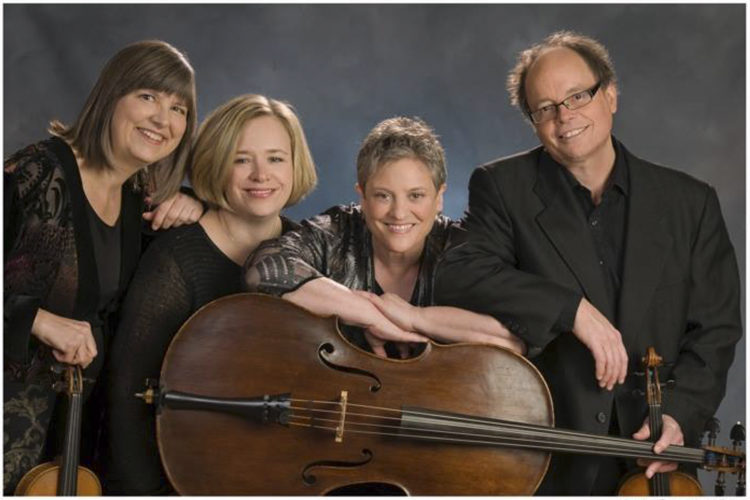 Photo courtesy of SUSAN WILSON The Aryaloka Quartet will perform at the Nashua Chamber Orchestra's spring gala on Sunday at LaBelle Winery in Amherst.
