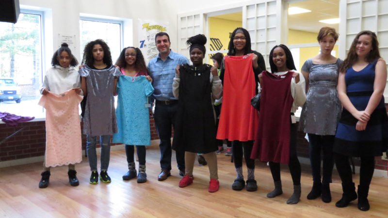 Courtesy photo  Through the Believe in Yourself Project, underprivileged girls in Nashua now have new, unworn, designer dresses to wear to their upcoming proms.