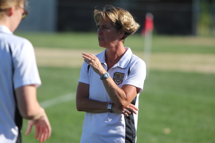 Staff photo by TOM KING Amy Sparks has stepped down as Souhegan girls soccer coach to take a girls soccer job at a Vermont high school.