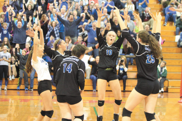 Hollis Brookline's strong school year includes the girls volleyball team earning a second straight Division I title.