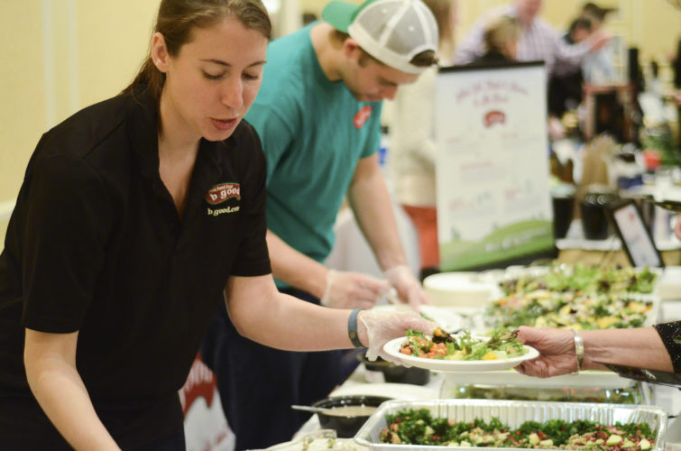"Photo courtesy of CONNOR ROELKE PHOTOGRAPHY Shown in the serving station for b.good. From 6-10 p.m. Friday, Nashua Center's 15th annual ""Taste of the Towns"" event will be held at the Nashua Radisson, 11 Tara Blvd., Nashua."