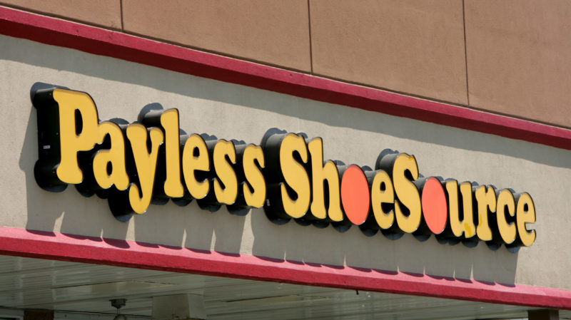 FILE- This Aug. 23, 2006, file photo shows a Payless store front is seen in Philadelphia. Shoe chain Payless ShoeSource has filed for Chapter 11 bankruptcy protection, becoming the latest retailer to succumb to increasing competition from online rivals like Amazon. The retailer said Tuesday, April  4, 2017, that it will be immediately closing nearly 400 stores as part of the reorganization. (AP Photo/Matt Rourke, File)