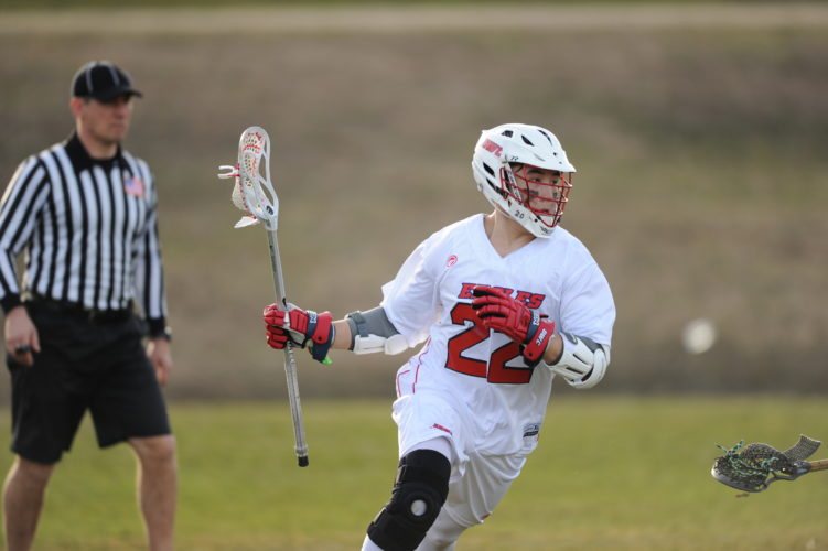 Photo courtesy of Daniel Webster College Leading scorer Tre Mason is one of the players who has helped keep the Daniel Webster men's lacrosse program alive for one final season.