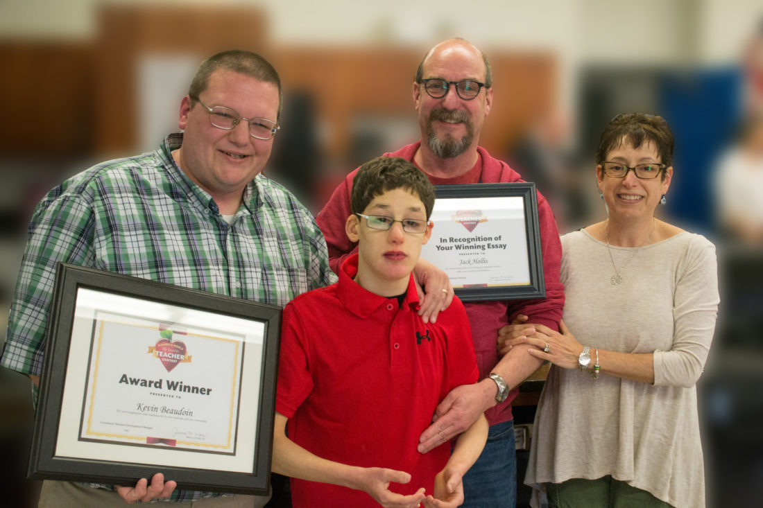 special education teacher wins recognition following student essay courtesy photo get set educator kevin beaudoin left is the subject of merrimack high