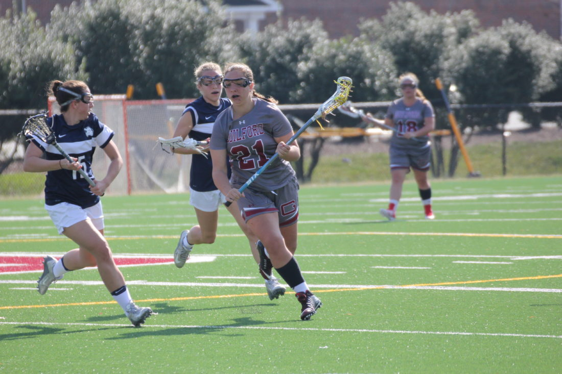 Photo courtesy of Guilford College Athletics Nashua's Amanda Dionne is having a superb scoring season at Guilford College in just her second year.