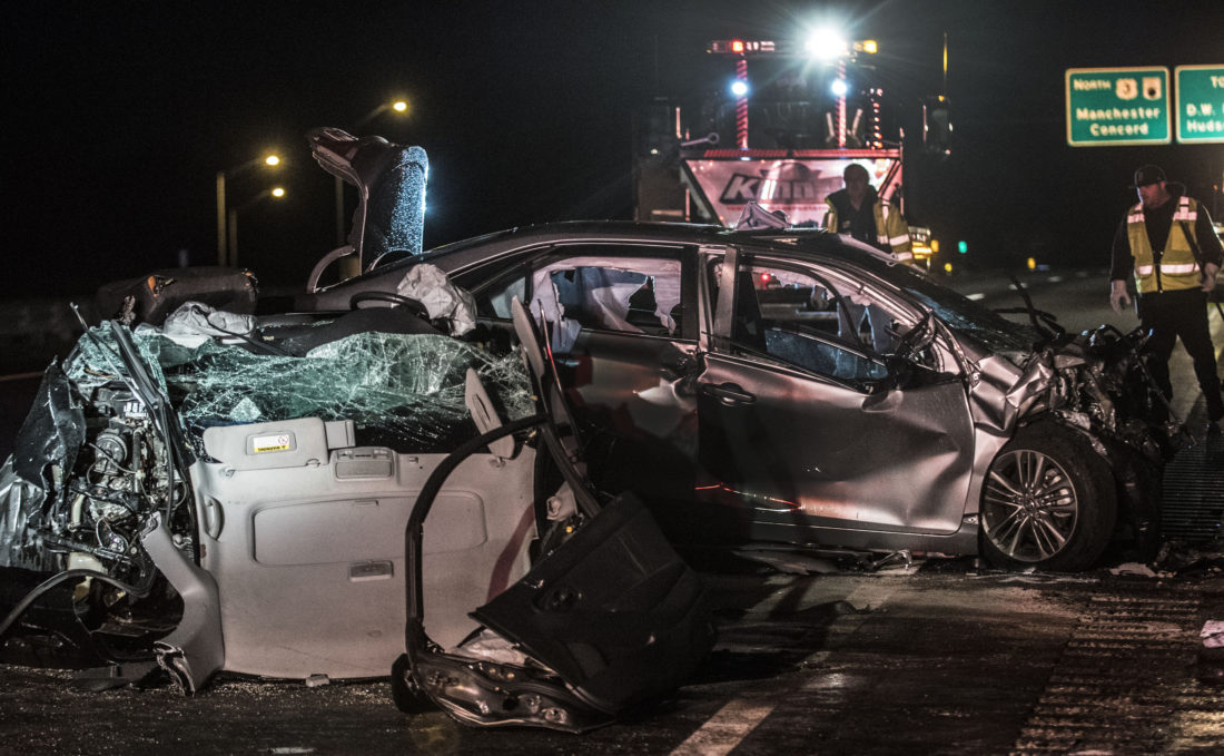 Wrong-way driver on Everett Turnpike; 3 critically injured
