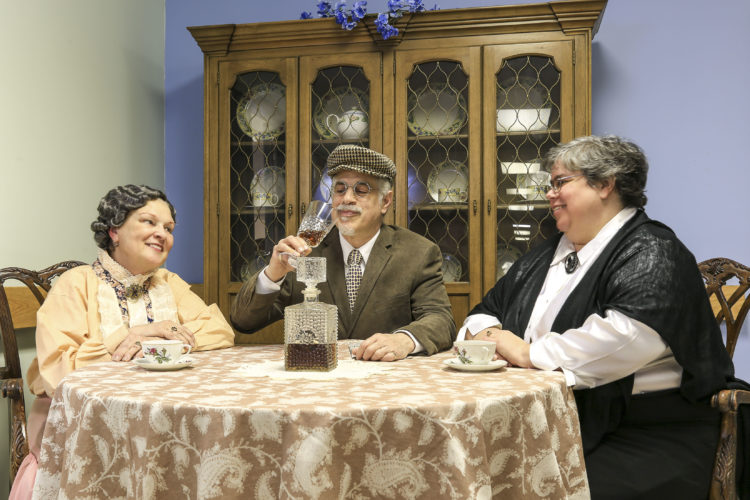 """Photo courtesy of SCOTT A. SMITH/SAS PHOTOGRAPHY The murderous Brewster sisters (from left, Catherine Andruskevich and Maria Barry) are your hostesses, in Nashua Theater Guild's production of """"Arsenic and Old Lace,"""" this weekend in Nashua."""