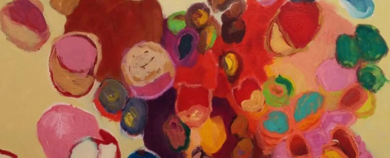 """Courtesy image Shown is """"Seeds from the tree of Life"""" by Nan Hockenbury.  Through Friday, """"From Telling to Knowing,"""" an exhibit of paintings by Hockenbury, will be on exhibit at the Mandarin Asian Bistro, 24 Market St., Lowell, Mass."""