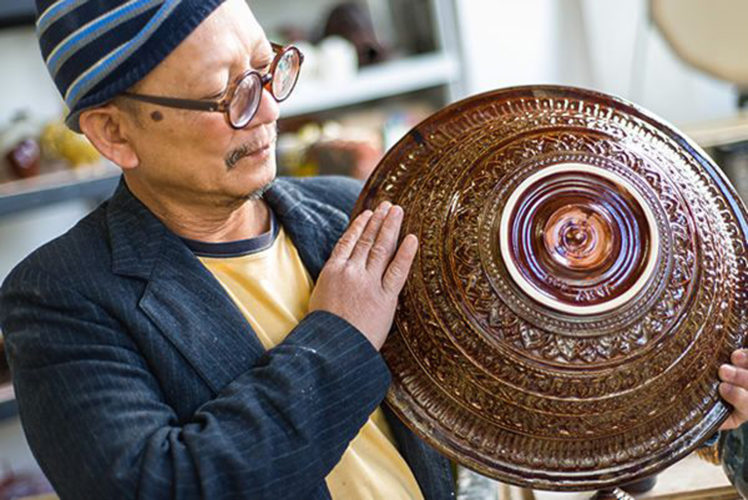 """Courtesy photo Through Sunday, """"One Man's Journey: Restoring a Lost Tradition,"""" the work of master ceramist and National Endowment for the Arts Heritage Fellow, Yary Livan, will be on display at the Loading Dock Gallery, 122 Western Ave., Lowell, Mass."""