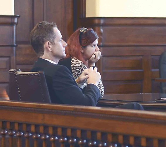 Photo by Hannah Kittle Ashley Mullen, 29, of 918 Front St., Marietta, awaits her sentencing in Washington County Common Pleas Court on Monday.