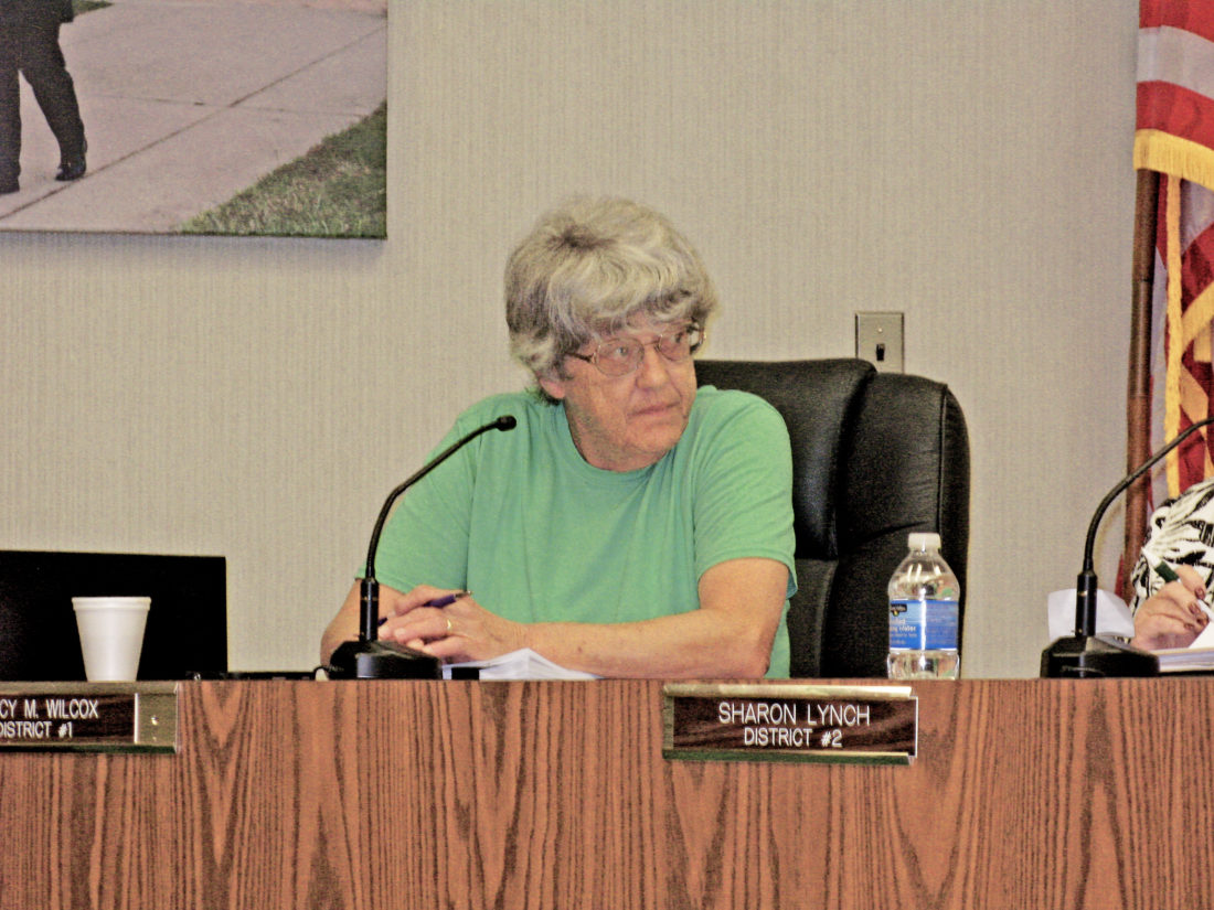 Photo by Evan Bevins Parkersburg City Councilwoman Nancy Wilcox makes a motion during Tuesday's council meeting at the Municipal Building.