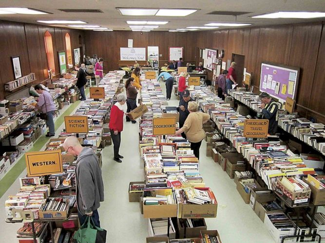 File Photo The annual Trinity Used Book Sale will be Nov. 7-12 at Trinity Episcopal Church at 430 Juliana St. in downtown Parkersburg.