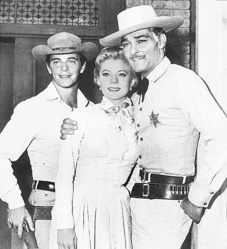 "Photo Provided Peter Brown, Peggie Castle and John Russell of ""Lawman."""