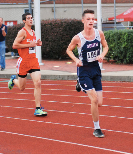 Photo by Jay W. Bennett Parkersburg South's Kerwyn Marshall and Parkersburg's Will Lemaster will compete on Thursday in the Class AAA, Region IV cross country meet at Huntington High School.