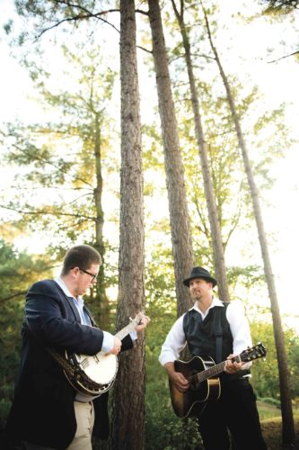 "Jake Eddy, left, and Steve Hussey, right, are collaborating on a new single and album, ""The Miller Girl."" (Photo by Michelle Waters)"