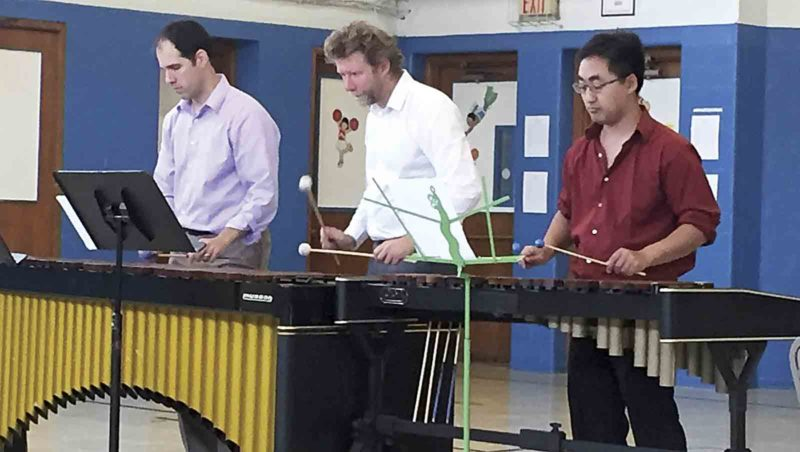The Shookstruck Trio, made up of Matt Larson, Scott Christian and Rob Kistler, play the marimba and xylophone. (Photo Provided)