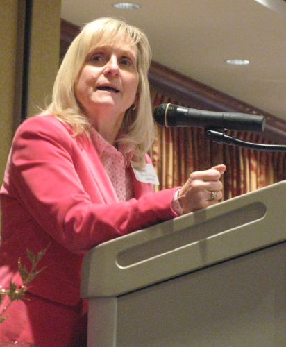 Photo by Jeffrey Saulton Lynne Fruth, president of Fruth Pharmacy since 2010, was the speaker at the Belpre Area Chamber of Commerce 79th annual dinner at the Grand Pointe Conference Center in Vienna.
