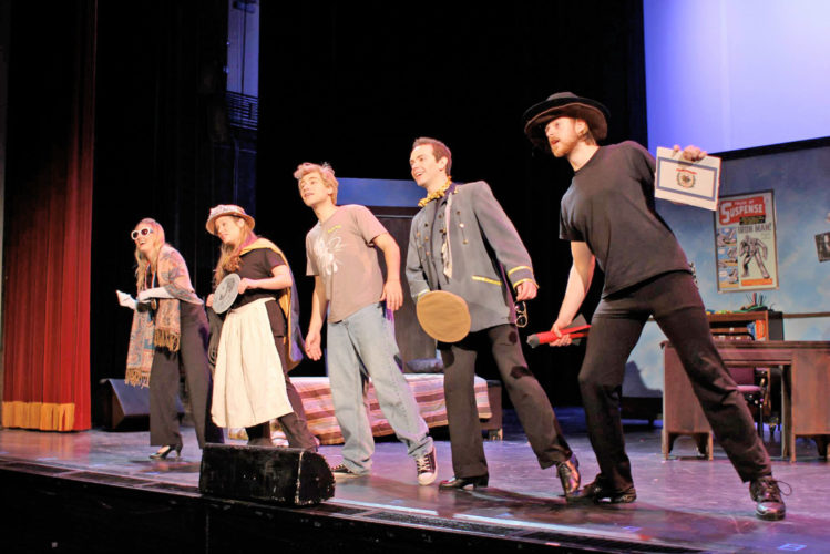 "Photo Provided ""Golden Horseshoe,"" a musical about West Virginia history  and heritage, will be performed in three shows today at the  Smoot Theatre in Parkersburg. Two shows in the morning are  for school students as the show is intended to encourage 8th  graders to participate in the Golden Horseshoe Contest next year,  and a 7:30 p.m. performance for the general public."