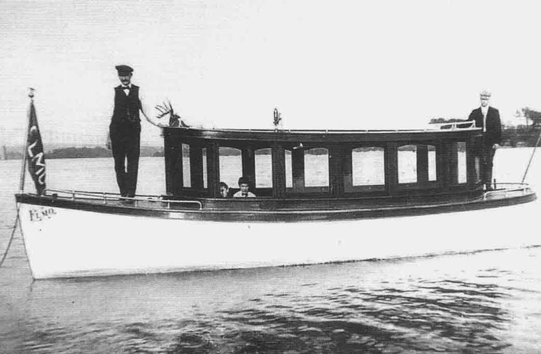 Photo provided by Betty Leavengood The Elmo was built by the Parmalee Boat Company in Williamstown, circa 1905. Owner Charlie Anderson, named the boat for his son, Elmo.