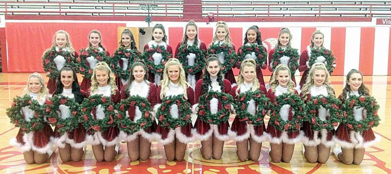 The Parkersburg High School Red Wing Dance Team will present its fourth annual Dancing for Donations at 7 p.m. Thursday at the high school Fieldhouse. The show is a benefit for the Humane Society of Parkersburg and the Toys for the Needy campaign sponsored by the Marine Corps League. From left, kneeling, Eden Deems, Taylor Garner, Katie Perkins, Kaylie Allen, Shante' Watson, Kaycee Kiser, Ava Asbury, Ashlynn Christy, Kylee McBride, Abby Gonzales. Standing, Lyndsey Riffle, Addi Garner, Megan Kupfner, Farrah McGinnis, Tori McKnight, Mady Peters, Jazlyn Frieson, Mackenzie Reed, Grace Gold. Not pictured are Kallie Heaney, Anela Tayan. (Photo Provided)