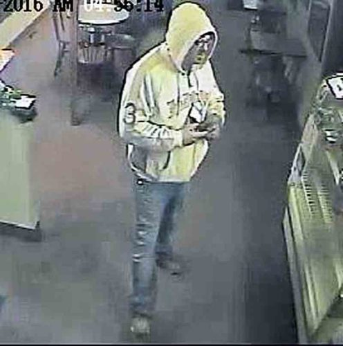 This security camera image shows the suspect in the Tuesday night robbery of La Cafe on Murdoch Avenue in Parkersburg. (Photo Provided)
