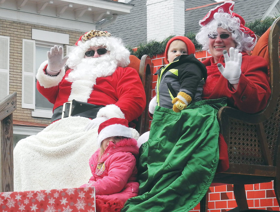 Photo by Jeffrey Saulton Santa Claus was at the end of the Parkersburg Christmas Parade.